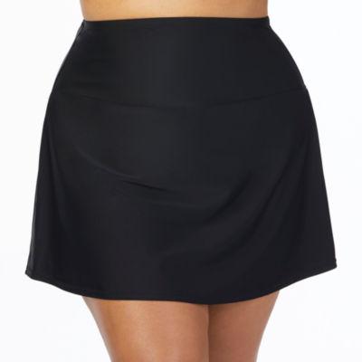 St. John's Bay Solid Swim Skirt-Plus