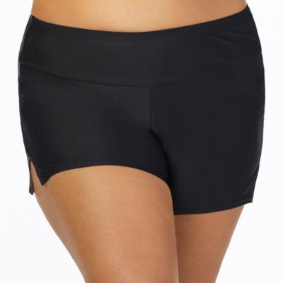 St. John's Bay Solid Boyshort Swimsuit Bottom-Plus