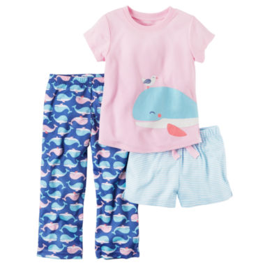 jcpenney.com | Carter's 3-pc. Short Sleeve Pajama set-Toddler Girls