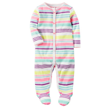 jcpenney.com | Carter's Girl Multi Stripe Footed Sleep-N-Play