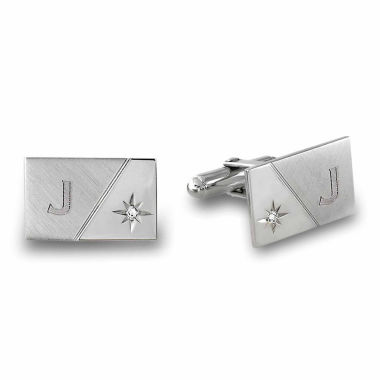 jcpenney.com | Florentine Cuff Links with Genuine Diamond Accent