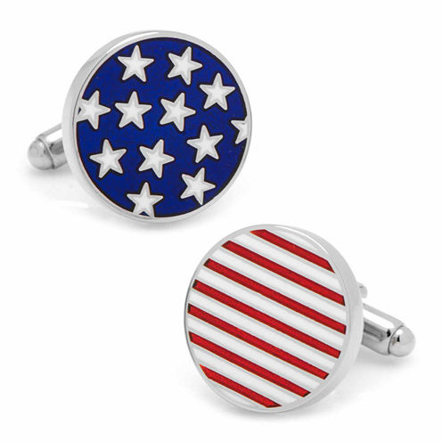 Stars and Stripes American Flag Cuff Links