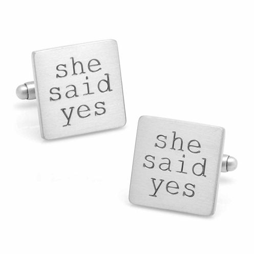 She Said Yes Cuff Links