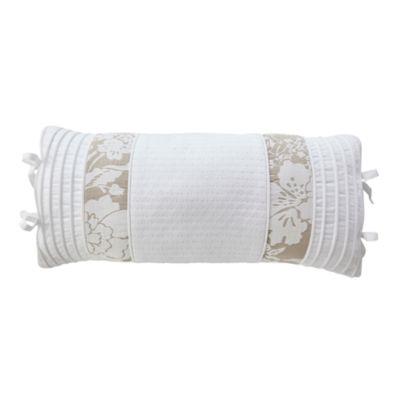 Croscill Classics Nellie White Boudoir Decorative Pillow