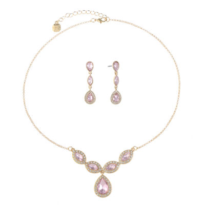 Monet Jewelry Monet Jewelry Womens 2-pc. Pink Jewelry Set qNhFg9iAxt