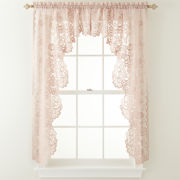 jcp home™ Shari Lace Rod-Pocket Cascade Valance