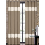 Colordrift Seismic Stripe Grommet-Top Curtain Panel