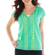 Decree® Print Peasant Top