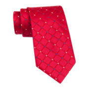 Stafford® Starke Grid Silk Tie