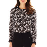 Worthington® Long-Sleeve Colorblock Blouse