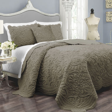 jcpenney.com | Vue™ Charlotte Faux-Fur 3-pc. Coverlet Set