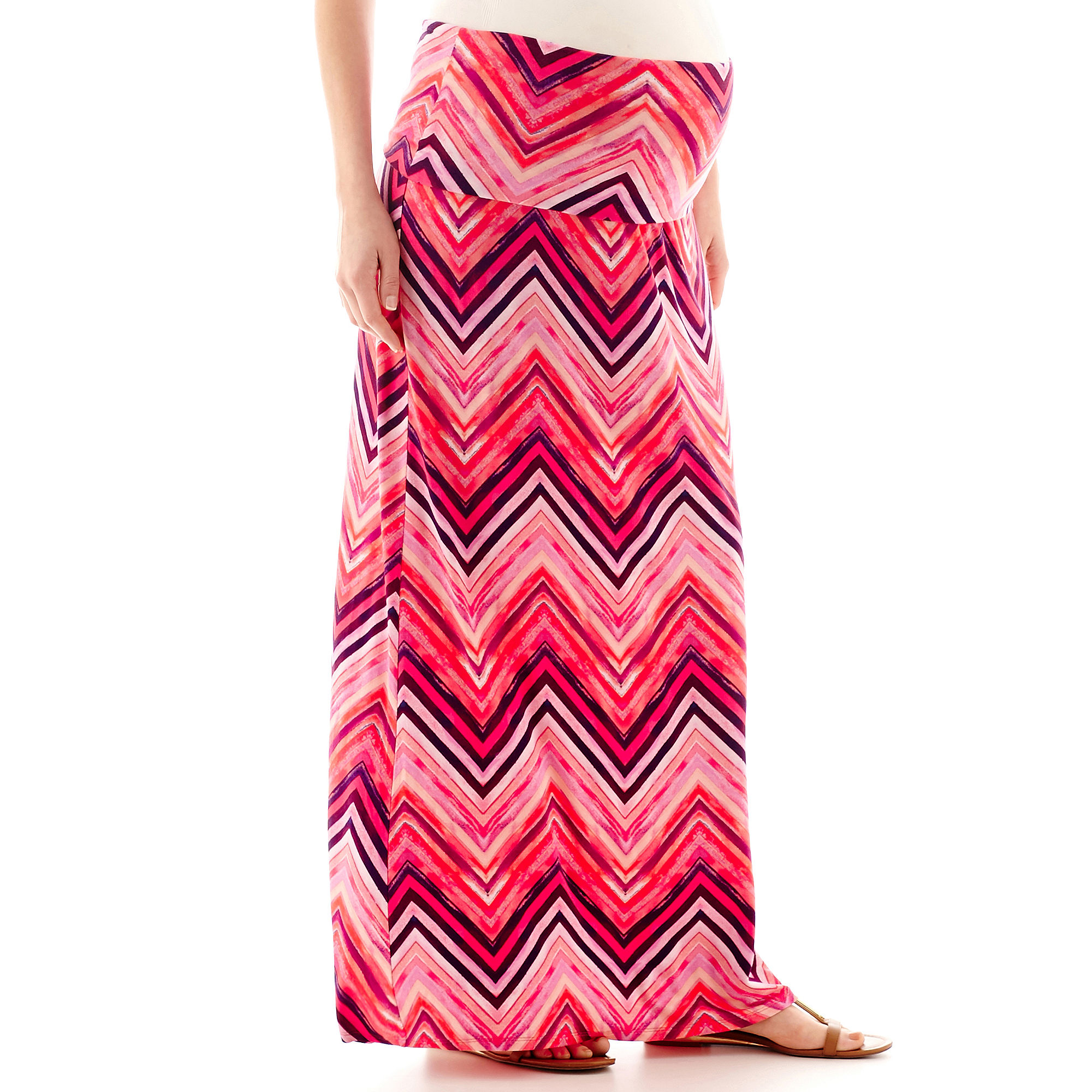 a.n.a Maternity Wide-Waistband Maxi Skirt - Plus plus size,  plus size fashion plus size appare