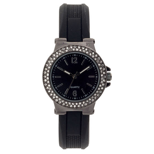 Mixit Womens Black Strap Watch-Jcp2979gbk