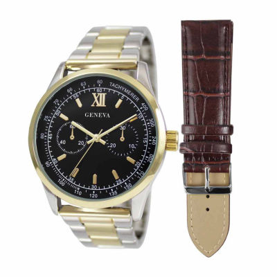 Geneva Mens Brown 2 Pc. Watch Boxed Set Jry1806ttgbkbr by Geneva
