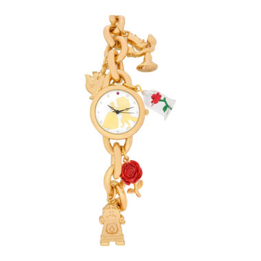 jcpenney.com | Disney Beauty and the Beast Womens Gold Tone Bracelet Watch-Pn2075jc