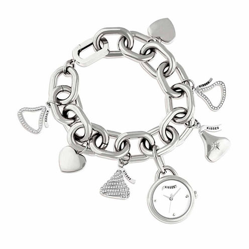 Hershey Kisses Womens Silver Tone Bracelet Watch-Ks008sl