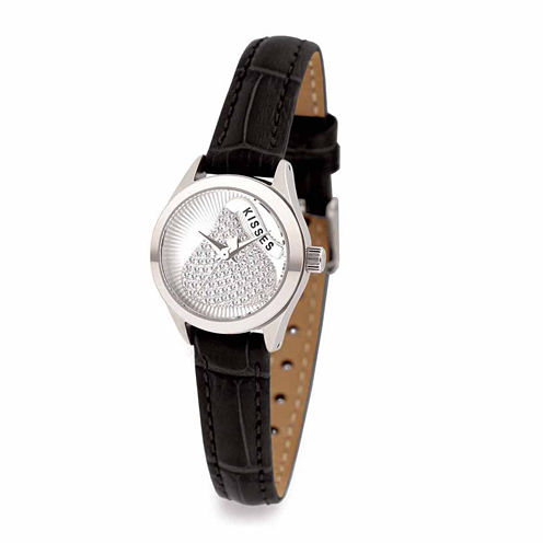 Hershey Kisses Womens Black Strap Watch-Ks003slbk