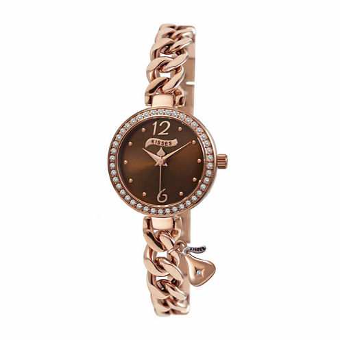 Hershey Kisses Womens Rose Goldtone Bracelet Watch-Ks007rg