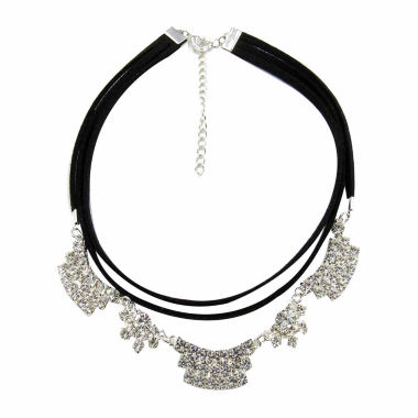 jcpenney.com | Vieste Rosa Silver Over Brass Choker Necklace