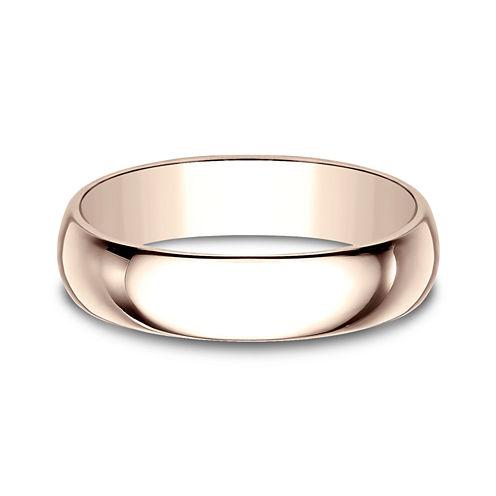 Mens 5mm 14K Rose Gold Wedding Band