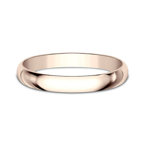 Womens 2.5mm 14K Rose Gold Wedding Band