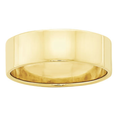 jcpenney.com | Mens 10K Yellow Gold Lightweight Flat Wedding Band