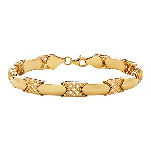 Limited Quantities! Womens 7 Inch 14K Gold Link Bracelet
