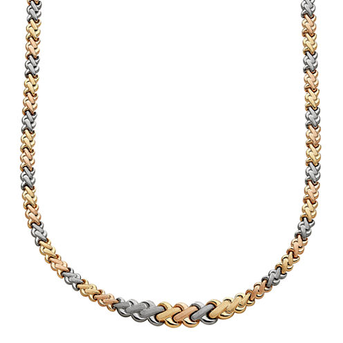 Limited Quantities! Womens 17 Inch 10K Gold Link Necklace