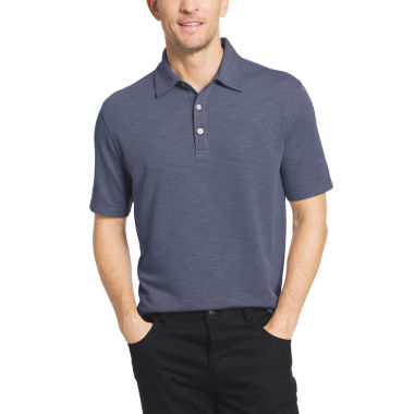 jcpenney.com | Van Heusen Short Sleeve Two Tone Slub Textured Polo Shirt