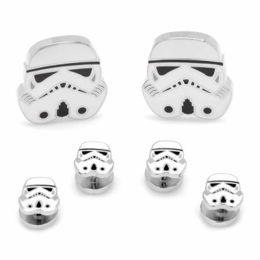 jcpenney.com | Star Wars® Storm Trooper Stud & Cuff Links Gift Set
