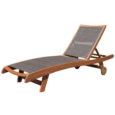 jcpenney.com | Outdoor Interiors Sling and Eucalyptus Chaise Lounger