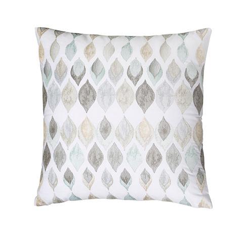 Shell Rummel Sea Glass Square Throw Pillow