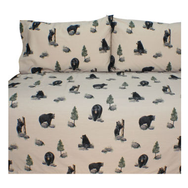 jcpenney.com | Blue Ridge Trading The Bears Sheet Set Twin Cotton/Polyster Sheet Set