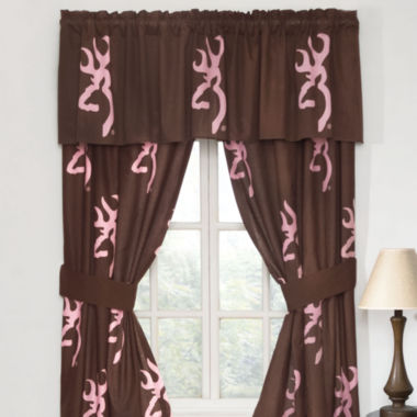 jcpenney.com | Browning Buckmark Pink Rod Pocket Lined Curtains W/Tiebacks
