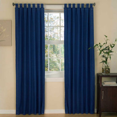jcpenney.com | Karin Maki American Denim Tab Top Lined Curtains W/Tiebacks Curtain Panel