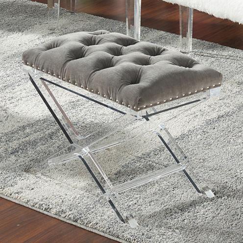 Evoque Fabric Tufted Bench