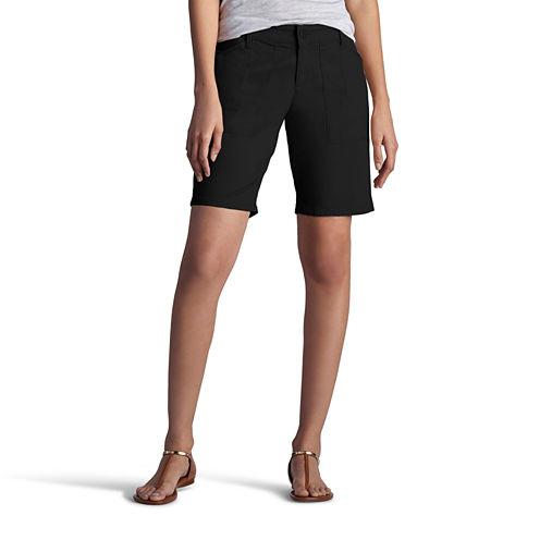 "Lee 8 1/2"" Classic Fit Twill Bermuda Shorts-Petites"