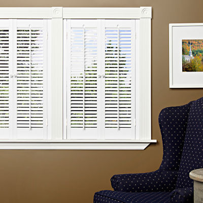 JCPenney Home™ Faux Wood Traditional Shutters   2 Panels