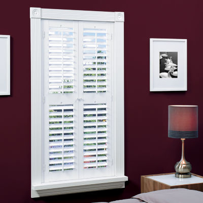 Jcpenney Home Faux Wood Plantation Shutters With Mid Rail 2 Panels