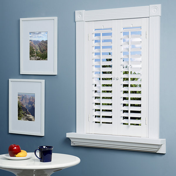 JCPenney Home™ Faux-Wood Plantation Shutters - 2 Panels-JCPenney