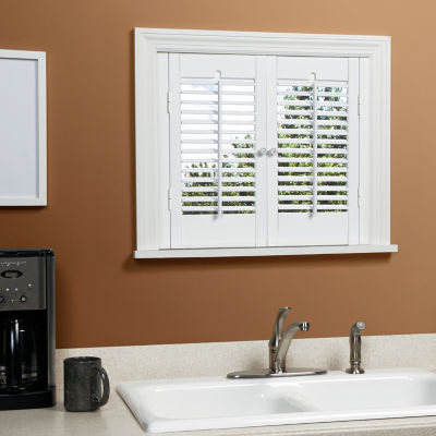 JCPenney Home™ Traditional Wood Interior Shutters U2013 2 Panels