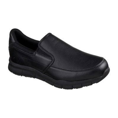 c31c2e8e82dc Skechers Mens Nampa Slip-on Closed Toe Wide Width Oxford Shoes ...
