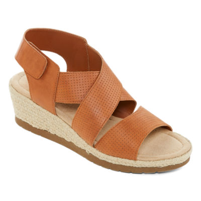61763567e70b St. John s Bay Womens Denison Wedge Sandals - JCPenney