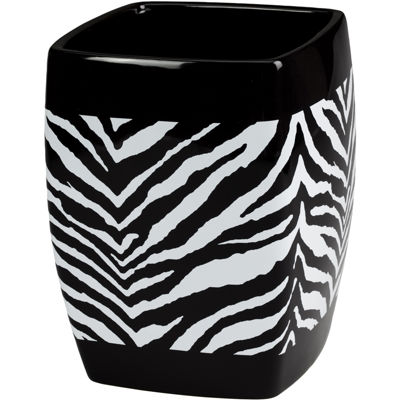 Creative Bath™ Zebra Wastebasket