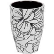 Creative Bath™ Black & White Ceramic Tumbler
