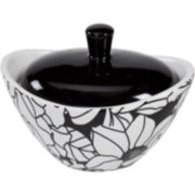 Creative Bath™ Black & White Ceramic Jar