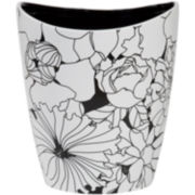 Creative Bath™ Black & White Ceramic Wastebasket