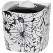 Creative Bath™ Black & White Ceramic Tissue Holder