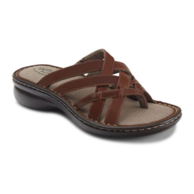 jcpenney.com | Eastland® Lila Womens Slip-On Leather Sandals
