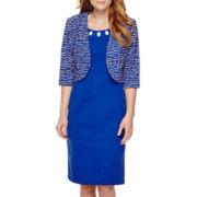 Maya Brooke Geometric Print Jacket Dress